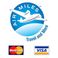 Airmiles rewards - We accept Visa and Mastercard