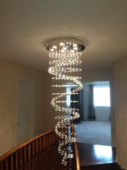 Hanging Lamp: Crystal ceiling lamp