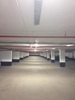 Underground parking lighting Managed Properties electrical work